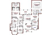 Traditional Style House Plan - 4 Beds 3 Baths 2911 Sq/Ft Plan #63-361 Floor Plan - Main Floor Plan