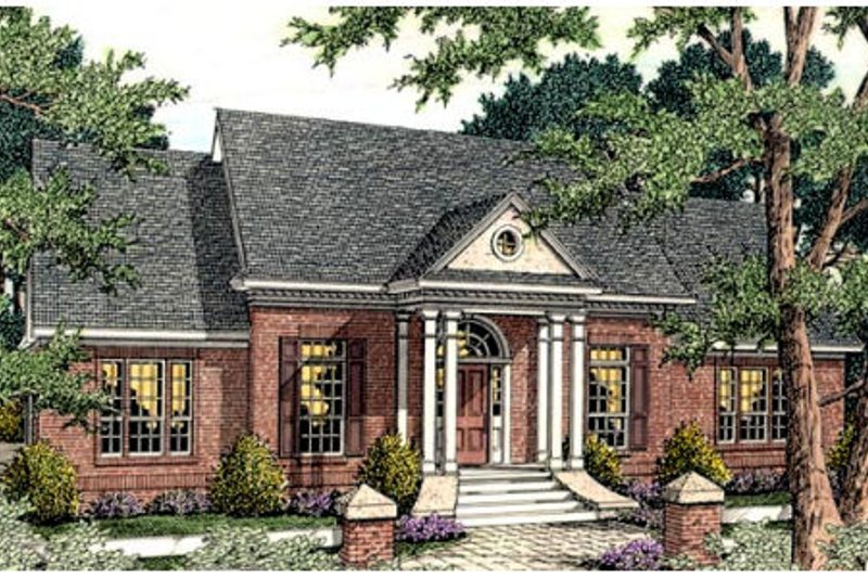 Southern Exterior - Front Elevation Plan #406-115 - Houseplans.com