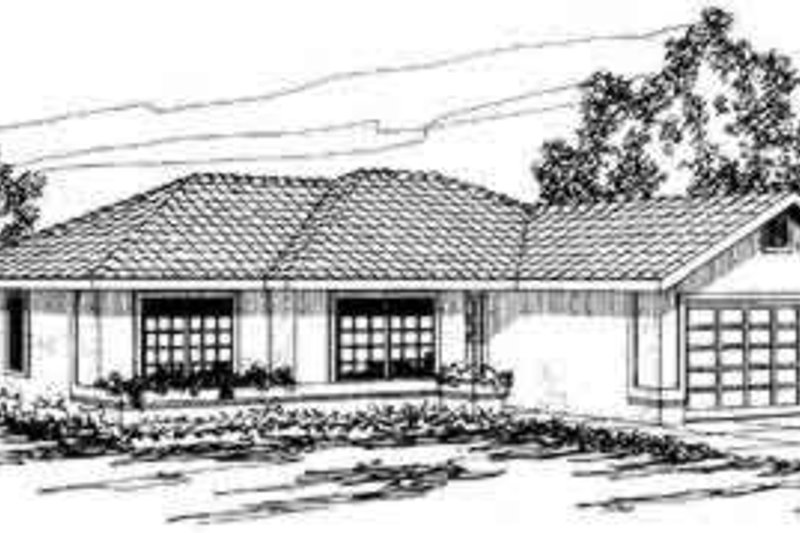 Exterior - Front Elevation Plan #124-252 - Houseplans.com