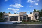 Adobe / Southwestern Style House Plan - 4 Beds 4.5 Baths 2517 Sq/Ft Plan #1073-26