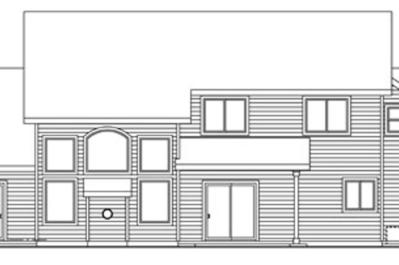 Craftsman Exterior - Rear Elevation Plan #124-759 - Houseplans.com