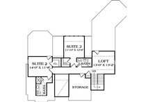 Craftsman Floor Plan - Upper Floor Plan Plan #453-638