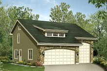 Home Plan Design - Cottage Exterior - Front Elevation Plan #57-390