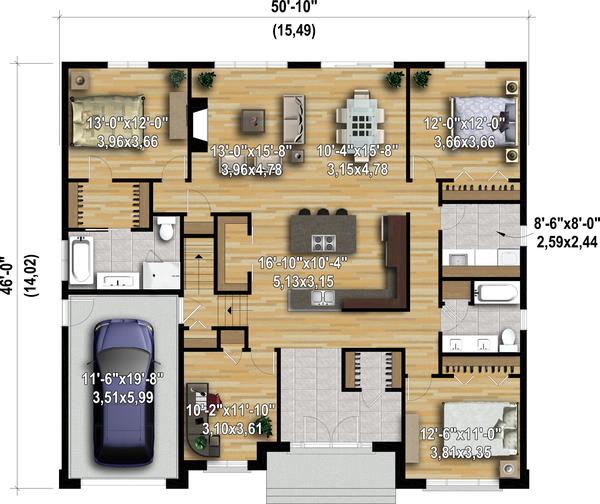 Dream House Plan - Contemporary Floor Plan - Main Floor Plan #25-4908