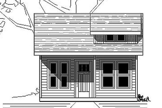 Cottage Exterior - Front Elevation Plan #423-44