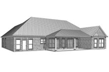House Design - Traditional Exterior - Rear Elevation Plan #63-360