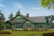 Craftsman Style House Plan - 4 Beds 3 Baths 4035 Sq/Ft Plan #132-160 Exterior - Rear Elevation