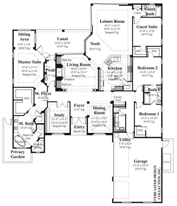House Plan Design - Ranch Floor Plan - Main Floor Plan #930-490