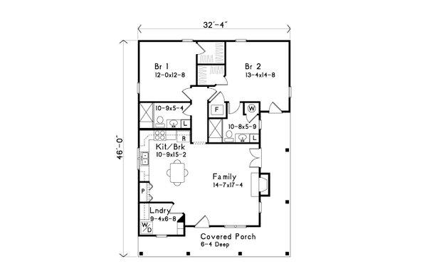 Dream House Plan - Cottage Floor Plan - Main Floor Plan #22-569