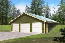 House Plan Design - Traditional Exterior - Front Elevation Plan #117-480