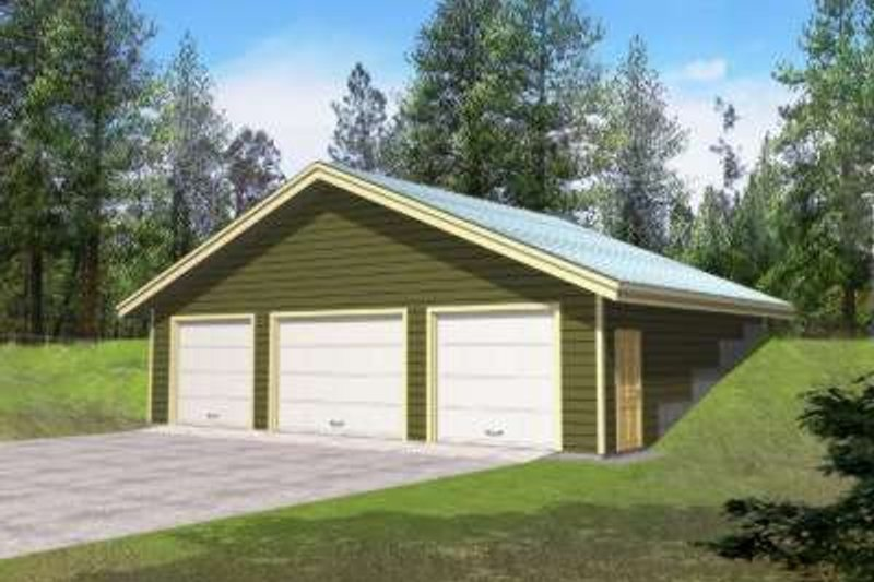 Traditional Exterior - Front Elevation Plan #117-480 - Houseplans.com