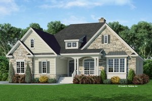 Dream House Plan - Country Exterior - Front Elevation Plan #929-669