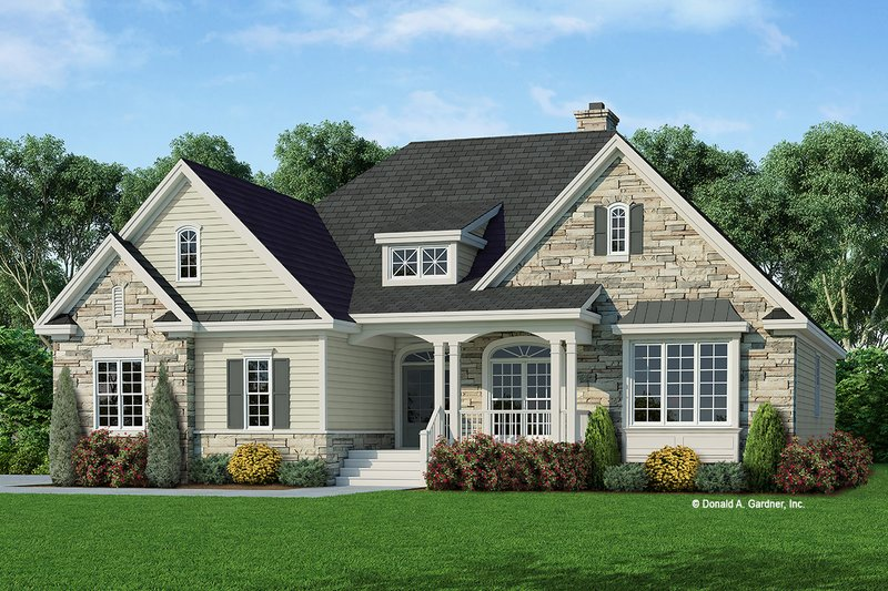 Country Exterior - Front Elevation Plan #929-669