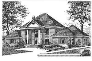 Traditional Exterior - Front Elevation Plan #15-219