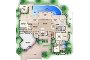 Country Style House Plan - 4 Beds 5.5 Baths 11243 Sq/Ft Plan #27-487 Floor Plan - Main Floor Plan