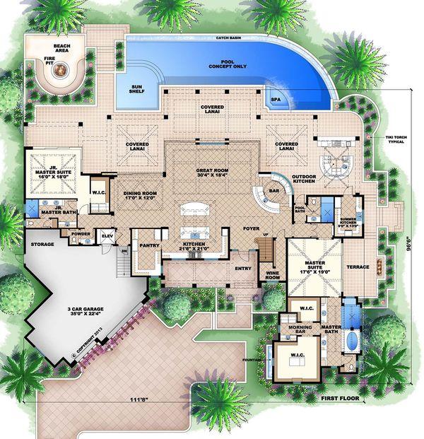 Country Floor Plan - Main Floor Plan Plan #27-487