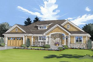 Architectural House Design - Craftsman style, Bungalow design, elevation