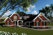 House Plan Design - Traditional Exterior - Front Elevation Plan #70-1434