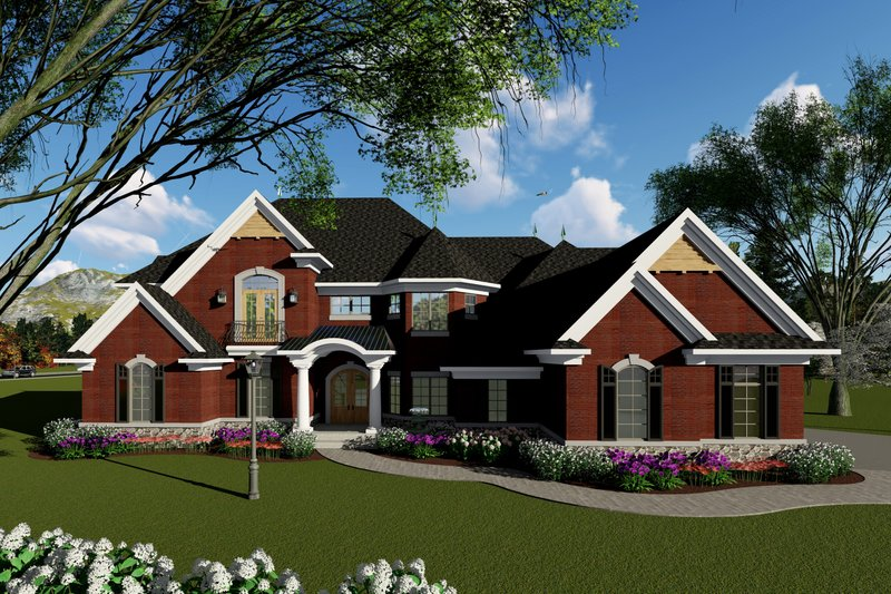 Dream House Plan - Traditional Exterior - Front Elevation Plan #70-1434