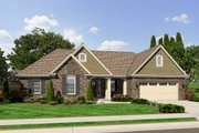Traditional Style House Plan - 3 Beds 2 Baths 1597 Sq/Ft Plan #46-469 Exterior - Front Elevation