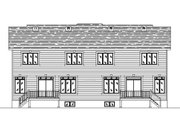 Country Style House Plan - 3 Beds 1.5 Baths 3683 Sq/Ft Plan #138-256 Exterior - Rear Elevation