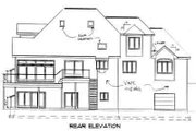Traditional Style House Plan - 4 Beds 2.5 Baths 3363 Sq/Ft Plan #75-134 Exterior - Rear Elevation