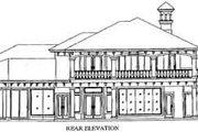 Mediterranean Style House Plan - 4 Beds 5 Baths 5042 Sq/Ft Plan #115-111 Exterior - Rear Elevation