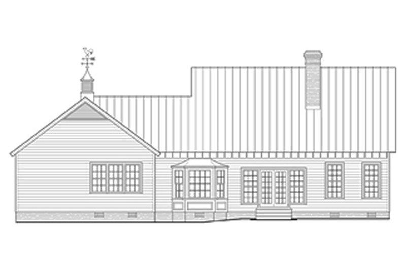 Farmhouse Exterior - Rear Elevation Plan #137-266 - Houseplans.com