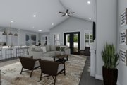 Ranch Style House Plan - 3 Beds 2.5 Baths 2734 Sq/Ft Plan #1060-99 Interior - Family Room