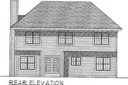 Traditional Style House Plan - 4 Beds 2.5 Baths 2316 Sq/Ft Plan #70-369 Exterior - Rear Elevation