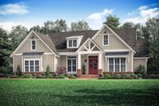 Craftsman Style House Plan - 3 Beds 2.5 Baths 2303 Sq/Ft Plan #1067-2 Exterior - Front Elevation