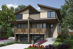 House Plan Design - Contemporary Exterior - Front Elevation Plan #48-1020