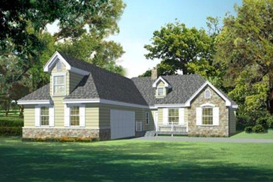 Cottage Exterior - Front Elevation Plan #105-201