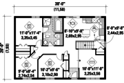 Country Style House Plan - 3 Beds 1 Baths 988 Sq/Ft Plan #25-4808 Floor Plan - Main Floor Plan