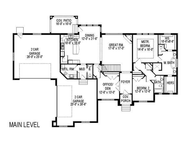 Traditional Floor Plan - Main Floor Plan Plan #920-127