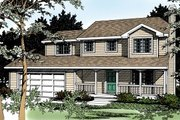 Traditional Style House Plan - 4 Beds 2.5 Baths 1632 Sq/Ft Plan #92-211 Exterior - Front Elevation