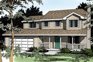 Traditional Exterior - Front Elevation Plan #92-211