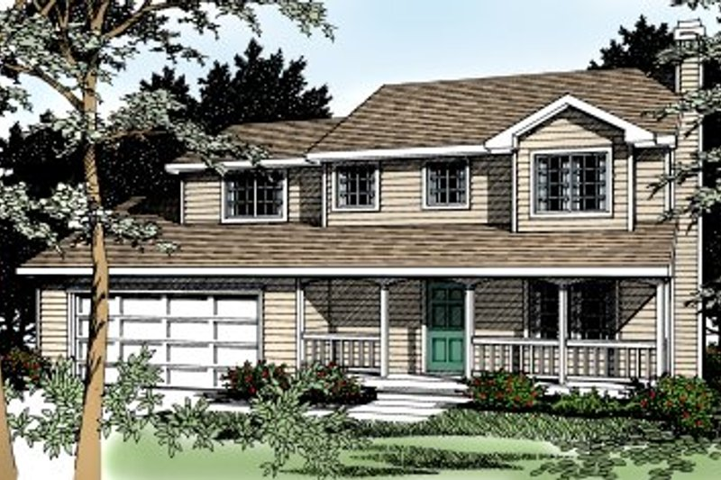 Architectural House Design - Traditional Exterior - Front Elevation Plan #92-211