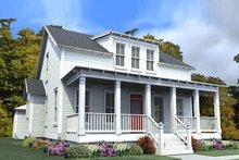 Dream House Plan - Farmhouse Exterior - Front Elevation Plan #63-373