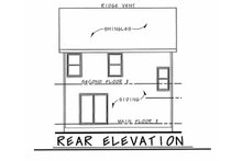 Traditional Exterior - Rear Elevation Plan #20-2177