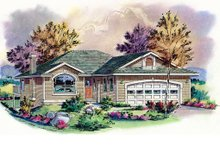 Traditional Exterior - Front Elevation Plan #18-1015
