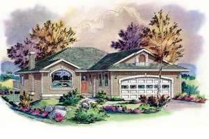 Home Plan - Traditional Exterior - Front Elevation Plan #18-1015