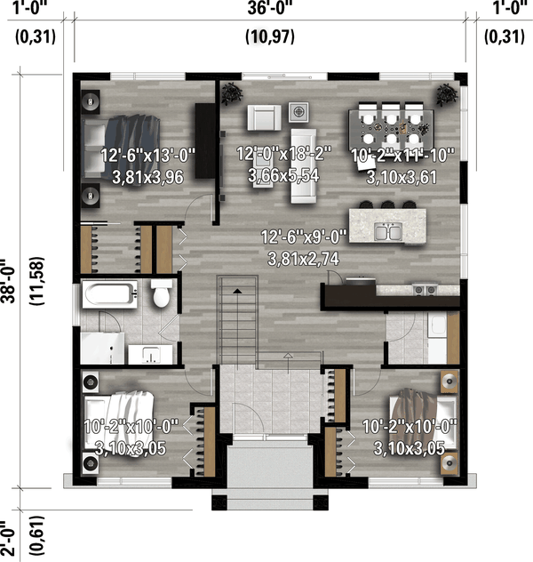 Home Plan - Contemporary Floor Plan - Main Floor Plan #25-4918