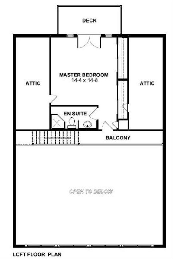 Cottage Floor Plan - Upper Floor Plan Plan #126-167