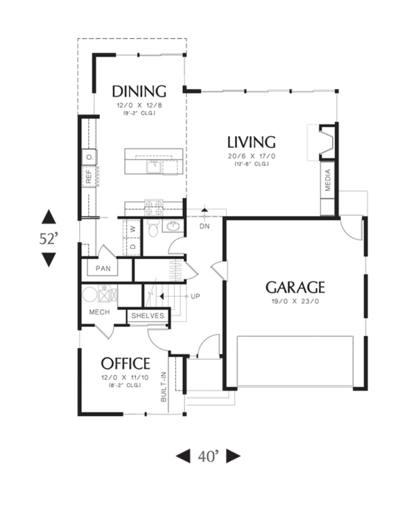 Modern Floor Plan - Main Floor Plan Plan #48-525