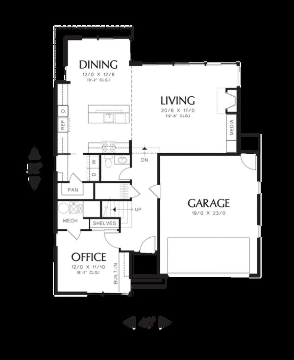 Modern Floor Plan - Main Floor Plan #48-525