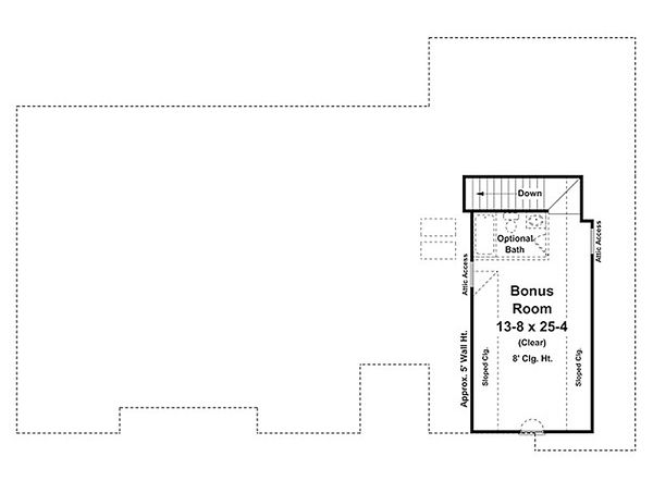 Ranch Floor Plan - Upper Floor Plan Plan #21-240