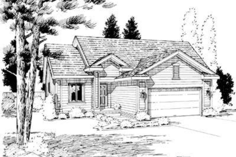 Traditional Exterior - Front Elevation Plan #20-418 - Houseplans.com