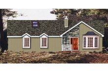 Country Exterior - Front Elevation Plan #3-323