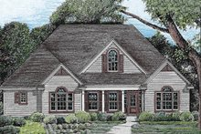 House Plan Design - Traditional style, elevation